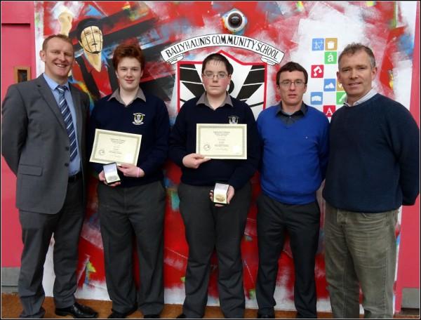 Mayo/Galway ETTA Metalwork winners