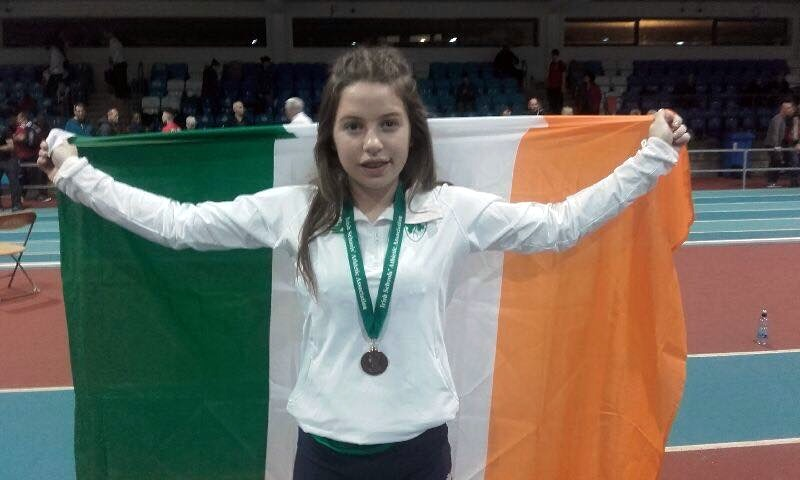Niamh O'Neill representing Ireland in the Combined Games