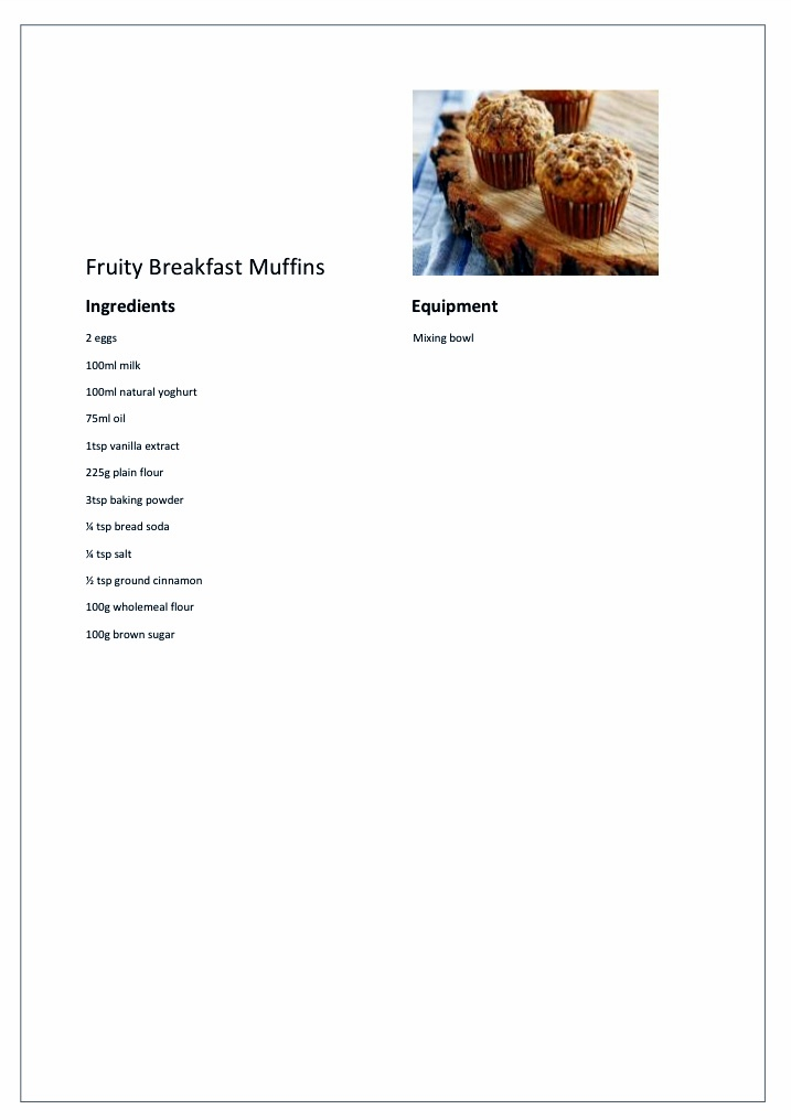 Fruity Breakfast Muffins
