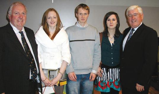 Maria McGuire, Donal Rochford, Cliona Hensy – All-Ireland Scholarship Winners