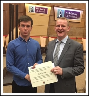 Cian Henry -NUIG Scholarship winner